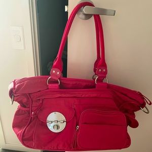 Mimco baby bag, used but like new. Hot pink